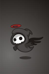 Animiertes Bild eines Todesengels