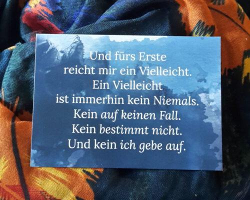 Postkarte für Blogbeitrag Nur kurz leben