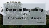 Beitragsbild des ersten Blogbeitrags von Katrin Biasi